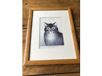 """The Favourite Cat"" sweet print in frame"