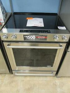 STAINLESS STEEL STOVES 30'' SMOOTHTOP 1 YEAR WARRANTY ELECTRIC; GAS SALE, WITH FREE DELIVERY TIL MARCH 19