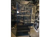 Large black parrot cage for sale