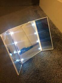LED Folding Mirror. (New & Boxed) Perfect X-mas Present