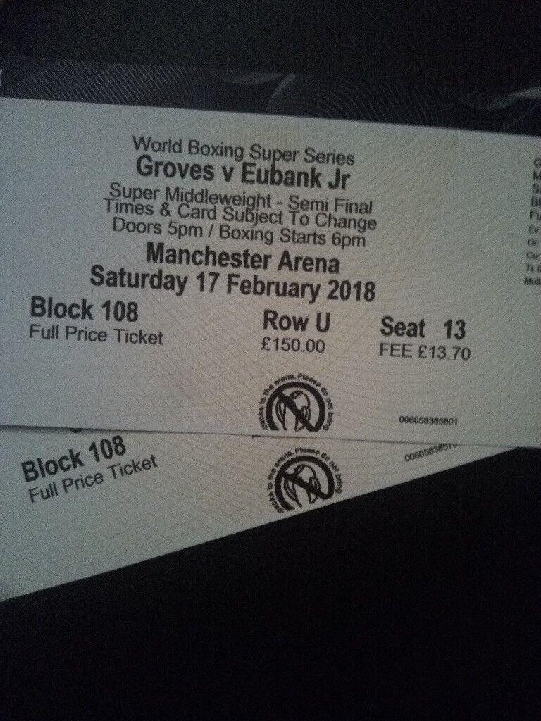 Eubank Jr v George Groves *cheap tickets*