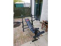 Weight bench and bars
