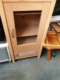 Wooden glass hifi cabinet