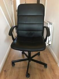 Ikea black leather office chair