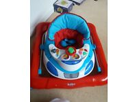 Bebe Style Blue Car baby walker never used