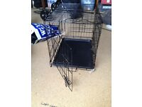 Dog Crate (60cm deep by 50cm high 43 wide) and Bed