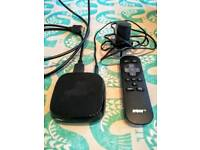 Now tv box with hdmi cable and remote