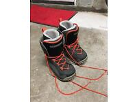 Children's kids snowboard boots bindings and board