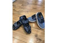 2 pairs boys summer shoes/sandals uk10