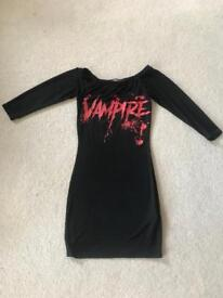 Boohoo women's vampire Halloween dress