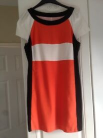 Black/Orange/Cream Dress