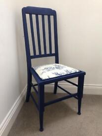 NEW painted upholstered chair
