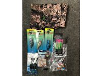 Daiwa fishing vest and small job lot of lures and balaclava