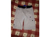 **Brand New With Tags** Adidas Originals Cotton Shorts - Mens - Colour Light Grey - Size Small - £10