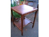 vintage dark wood 2 tier trolley, it was prepared in shabby chic style, coffee table, bedside table