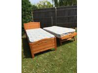 Pine single bed with guest bed and mattress's