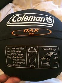 Coleman sleeping bag with stuff sack