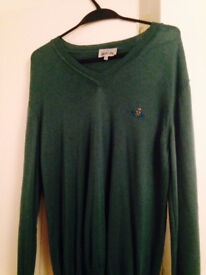 Vivienne Westwood Green Wool Jumper £70 RRP £160.