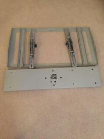 Silver flat screen plasma tv wall bracket