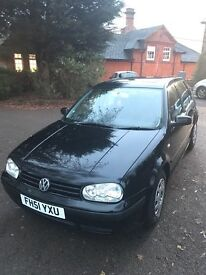 2002 Black Mk 4 Golf 1.4 S Petrol, 81500 Miles, 5 Door Hatchback