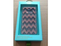 Brand New Kate Spade new york- Hardshell clear Case for Samsung Galaxy S7-Clear Chevron Rose Gold