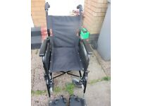 Lomax Self Propelled Wheelchair - Puncture-Proof Tyres Lightweight
