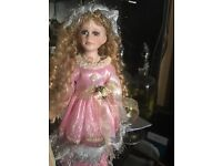 New porcelain doll for sale