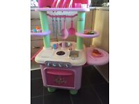 Elc Pink Sizzling Kitchen with accessories