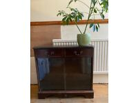 Solid wooden glass cabinet