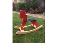 Rocking Horse Wooden Skye Childs Rocking Horse Play Toy Good Condition Age 2 Plus £10.00