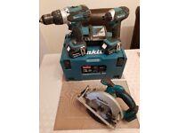 Makita 18v drill set and circural saw