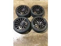 "Set of 19"" inovit alloy wheels and tyres Ford Jaguar Volvo"
