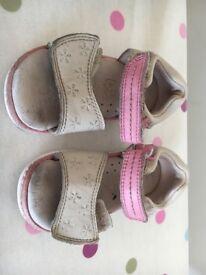 Girls Clark's leather sandals size 5 junior
