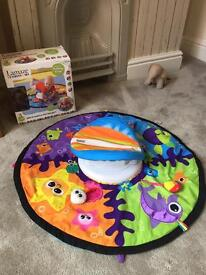 Lamaze tummy time spin and explore the sea baby gym