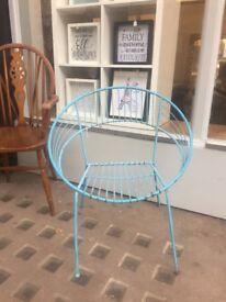 Blue metal retro chair