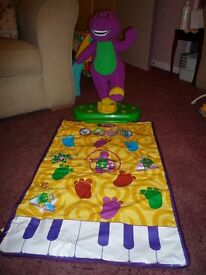 Barney musical dance mat