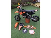 KTM 50 Senior Adventure. Kids/Childs motocross motorbike.