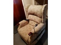 Lift Rise Riser Electric Chair with Dual Motor. Plus Heat & Massage facilities