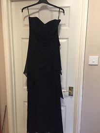 Maxi black dress (Monsoon)