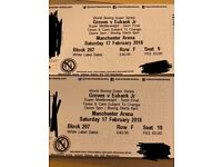 Groves vs Eubank Jr tickets! 2x seats next to each other.