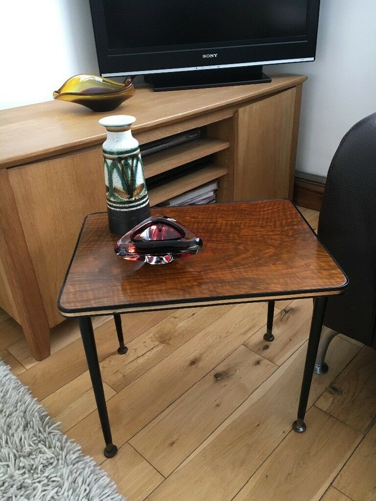 Formica top mid century small vintage coffee table