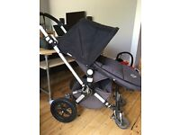 Bugaboo cameleon 2 pushchair and pram, comes with carry case, foot muff and maxi cosi adapters