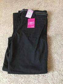 Girls black school trousers