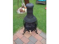 BLACK CAST IRON & MESH CHIMINEA