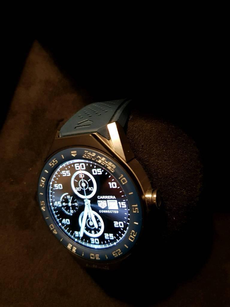 TAG Heuer Connected Modular 45 Titanium Mens Smart Watch ...