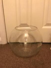 8x large glass fishbowls