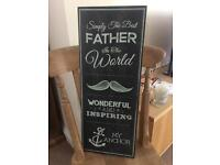 Best Father Board - gift / Inspirational Quote