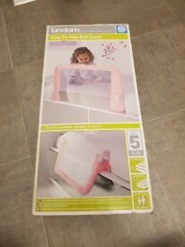 Brand new in box lindam easy fit bed guard pink