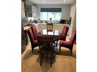 Stunning high polished wooden Italian table with 6 chairs