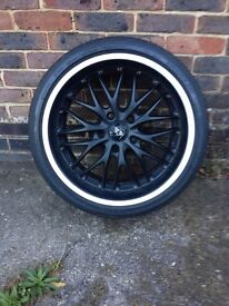 "BMW Rims and Tyres, Voltec Barracuda Racing wheels - 1-3 Series, 18""Run flat bridgestone"